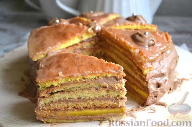 Торт добош классический рецепт пошагово