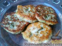Фото к рецепту: Оладьи из картофеля и кабачков
