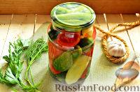Фото к рецепту: Пикули с зеленью (на зиму)