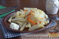 Фото к рецепту: Запеченная редька с картофелем и морковью