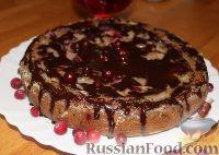 Фото к рецепту: Пирог с грушами и клюквой (в мультиварке)