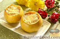 Фото к рецепту: Яблоки, запеченные с творогом, в духовке