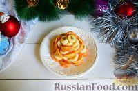 """Фото приготовления рецепта: Фруктовый салат """"Новогодняя ёлка"""" - шаг №6"""