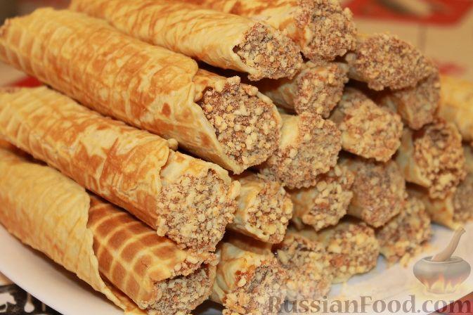 Рецепт трубочки со сгущенкой в домашних условиях
