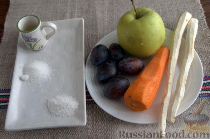 Фото приготовления рецепта: Соус «Янтарный» из хрена (на зиму) - шаг №1