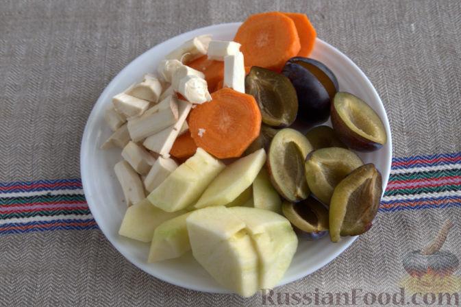Фото приготовления рецепта: Соус «Янтарный» из хрена (на зиму) - шаг №2