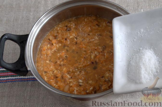 Фото приготовления рецепта: Соус «Янтарный» из хрена (на зиму) - шаг №5