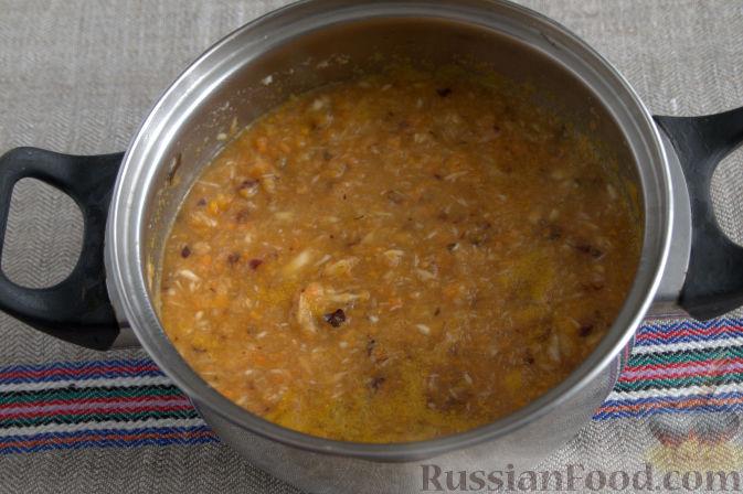 Фото приготовления рецепта: Соус «Янтарный» из хрена (на зиму) - шаг №6