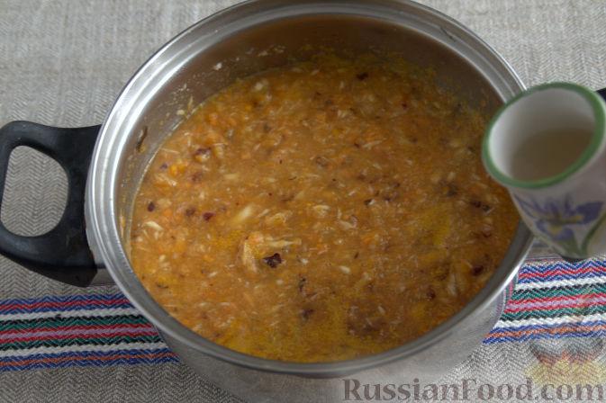 Фото приготовления рецепта: Соус «Янтарный» из хрена (на зиму) - шаг №7