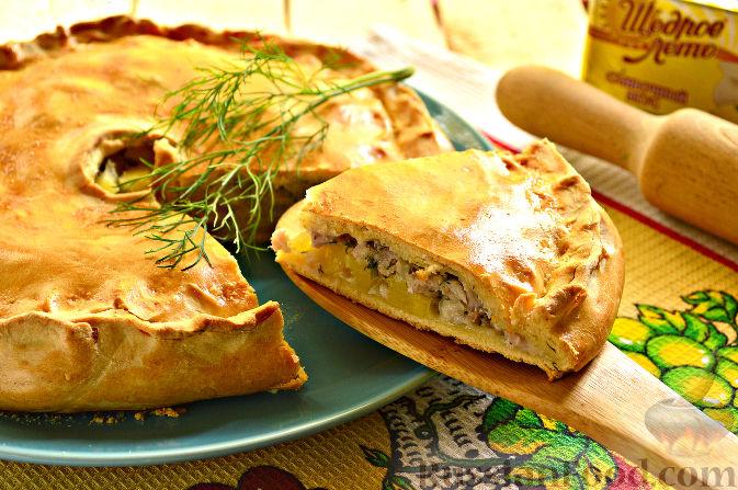 рецепт теста на пирог в духовке с мясом