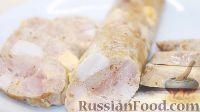 Фото приготовления рецепта: Домашняя куриная колбаса со свининой и сыром - шаг №15