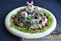 Фото приготовления рецепта: Праздничный салат «Три поросенка» для детей - шаг №14