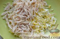 Фото приготовления рецепта: Праздничный салат «Три поросенка» для детей - шаг №4