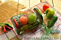 Фото к рецепту: Пикули с зеленью