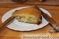 Фото приготовления рецепта: Пирог со свежей капустой - шаг №13