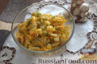Фото к рецепту: Овощная икра из топинамбура, с зелеными помидорами