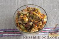 Фото приготовления рецепта: «Осеннее» рагу с топинамбуром, грибами и фасолью - шаг №7