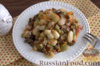Фото приготовления рецепта: «Осеннее» рагу с топинамбуром, грибами и фасолью - шаг №9