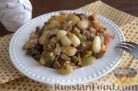 Фото приготовления рецепта: «Осеннее» рагу с топинамбуром, грибами и фасолью - шаг №10