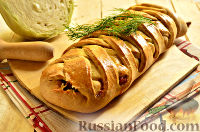 Фото к рецепту: Кулебяка с капустой и яйцом