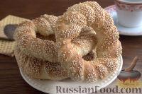 Фото к рецепту: Симит (турецкий бублик с кунжутом)