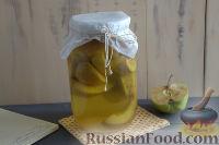 Фото к рецепту: Компот из груш и яблок с куркумой (на зиму)