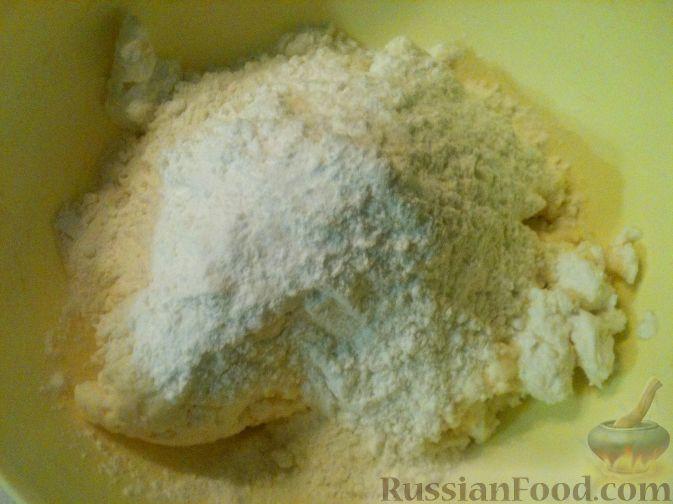Фото приготовления рецепта: Закрытые пиццы с ветчиной и грибами - шаг №17