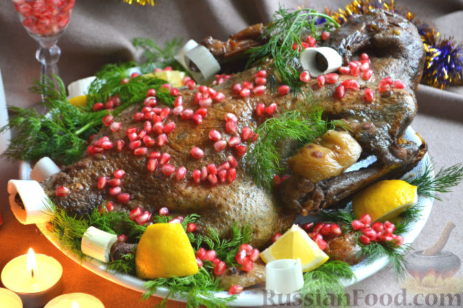 Фото приготовления рецепта: Утка праздничная - шаг №8