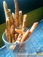 Фото к рецепту: Творожные палочки с красным перцем и льняными семечками