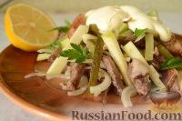 """Фото к рецепту: Мясной салат """"Пражский"""""""