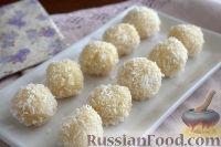 Фото к рецепту: Кокосовые конфеты (с кунжутом)