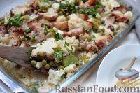 Фото к рецепту: Гратен из цветной капусты
