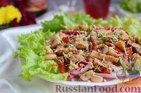 Фото к рецепту: Горячий салат-гарнир с грибами