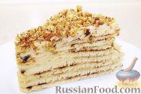 Фото к рецепту: Быстрый торт на сковороде, с заварным кремом
