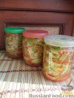 Фото к рецепту: Помидоры зеленые дольками