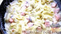 Фото к рецепту: Паста с морепродуктами в сливочном соусе