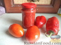 Фото к рецепту: Аджика «Вкусненькая»