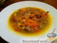 Фото к рецепту: Суп-похлебка с языком и овощами