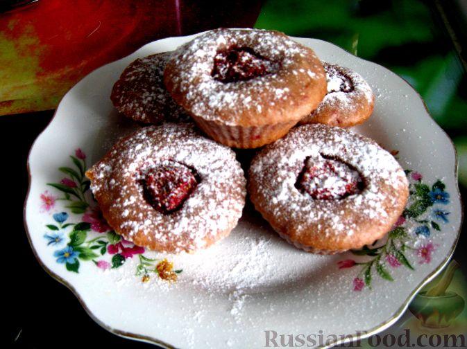 Рецепт Клубничные кексы (постные)