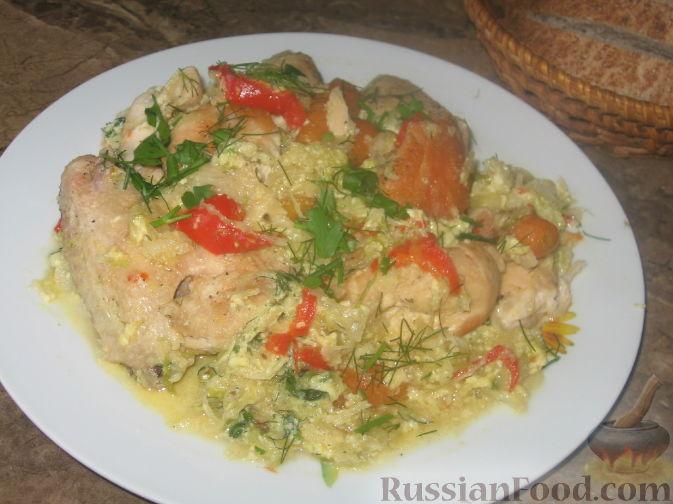 Рецепт Летнее овощное рагу с курицей