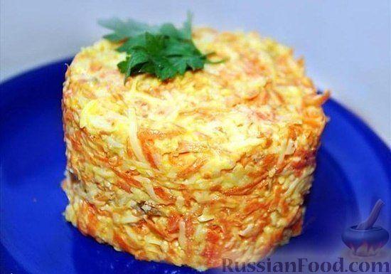 Рецепт Салат из морковки с сыром