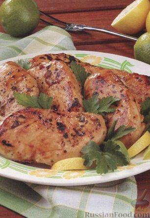 Рецепт Куриное филе, жаренное на гриле