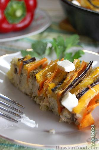 Рецепт Рисовая запеканка с мясом и овощами