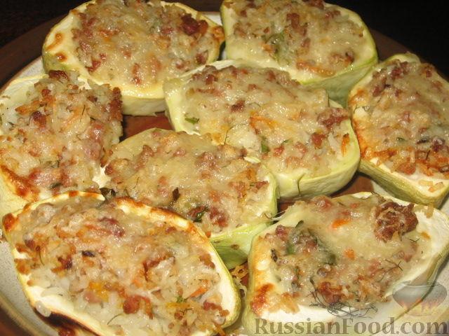 Рецепт Патиссоны, фаршированные рисом и мясом