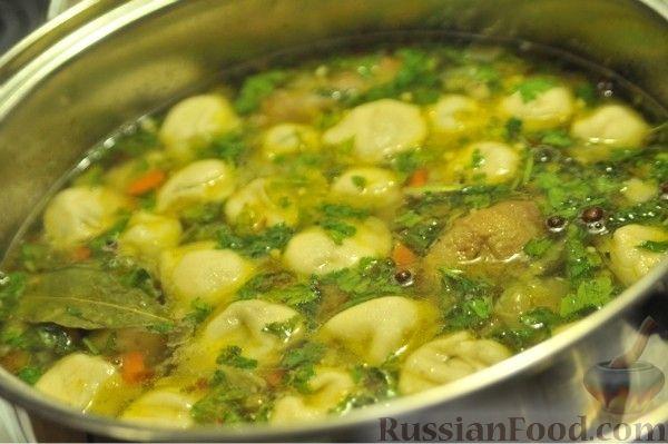 Рецепт Картофельный суп с грибными ушками