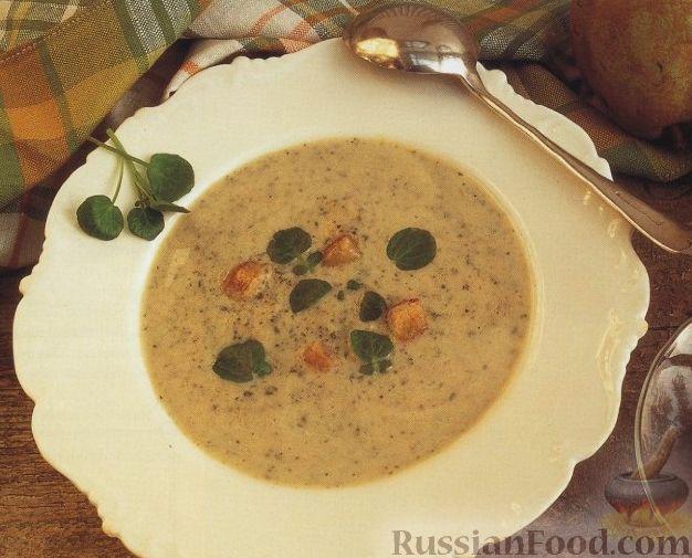 Рецепт Суп-пюре из кресс-салата и груши