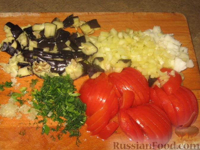 салат из помидор и чеснока рецепт с фото