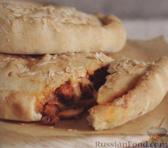 Рецепт Кальцоне с мясом и грибами