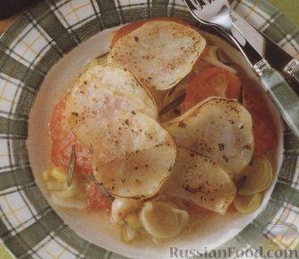 Рецепт Картофель с пореем и помидорами