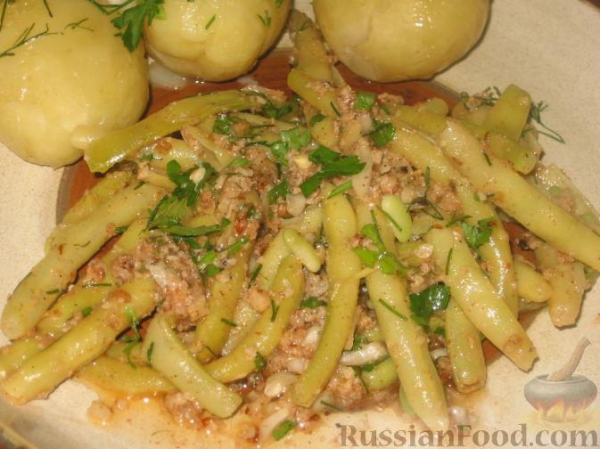Рецепт Стручковая фасоль с ореховым соусом